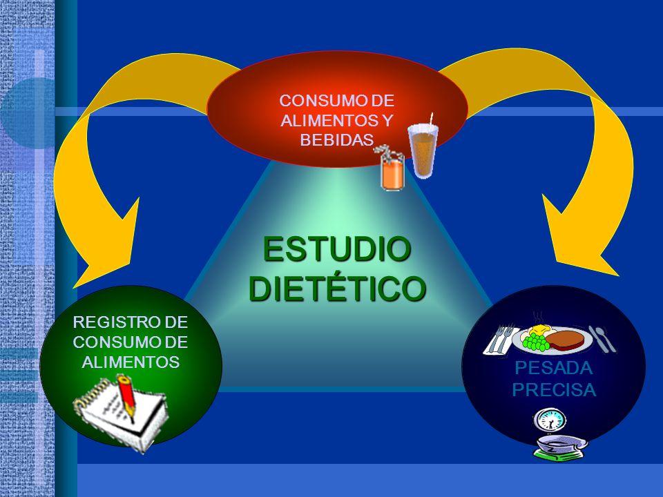 ESTUDIO DIETÉTICO PESADA PRECISA CONSUMO DE ALIMENTOS Y BEBIDAS REGISTRO DE CONSUMO DE ALIMENTOS