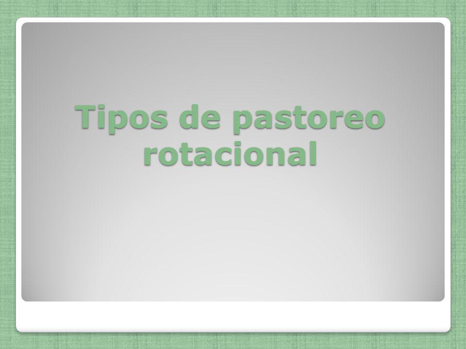 Tipos de pastoreo rotacional