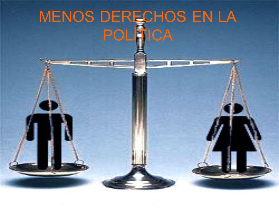 MENOS DERECHOS EN LA POLÍTICA