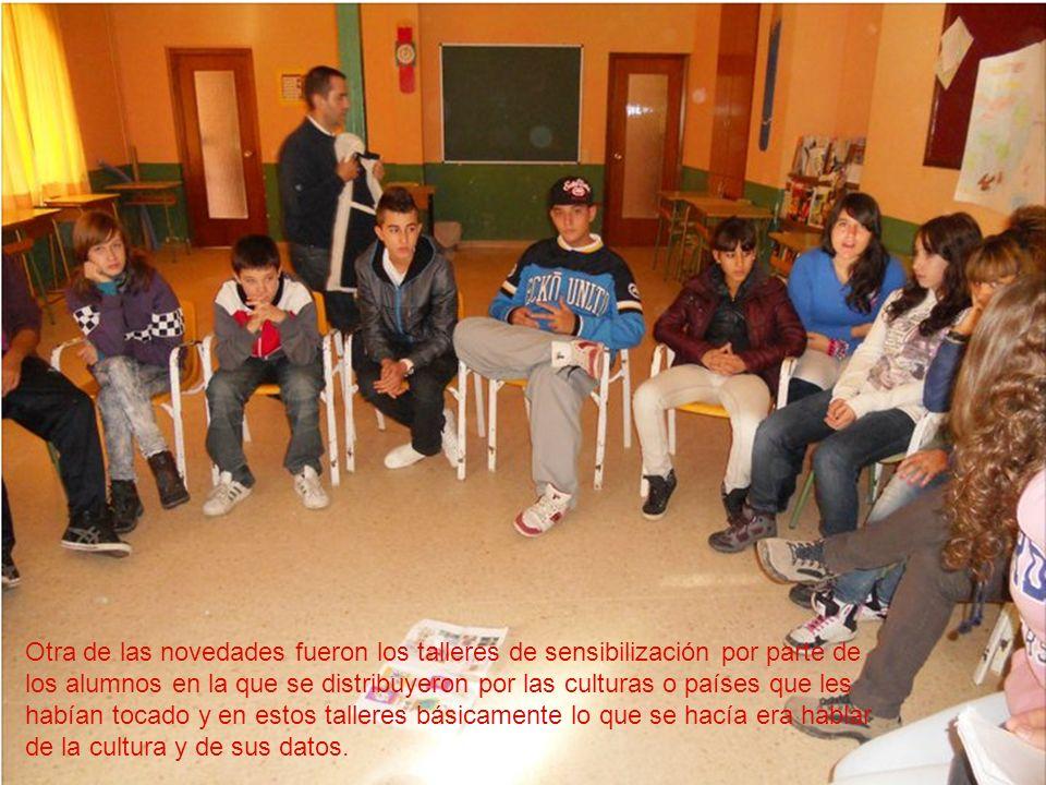 Otra de las novedades fueron los talleres de sensibilización por parte de los alumnos en la que se distribuyeron por las culturas o países que les hab