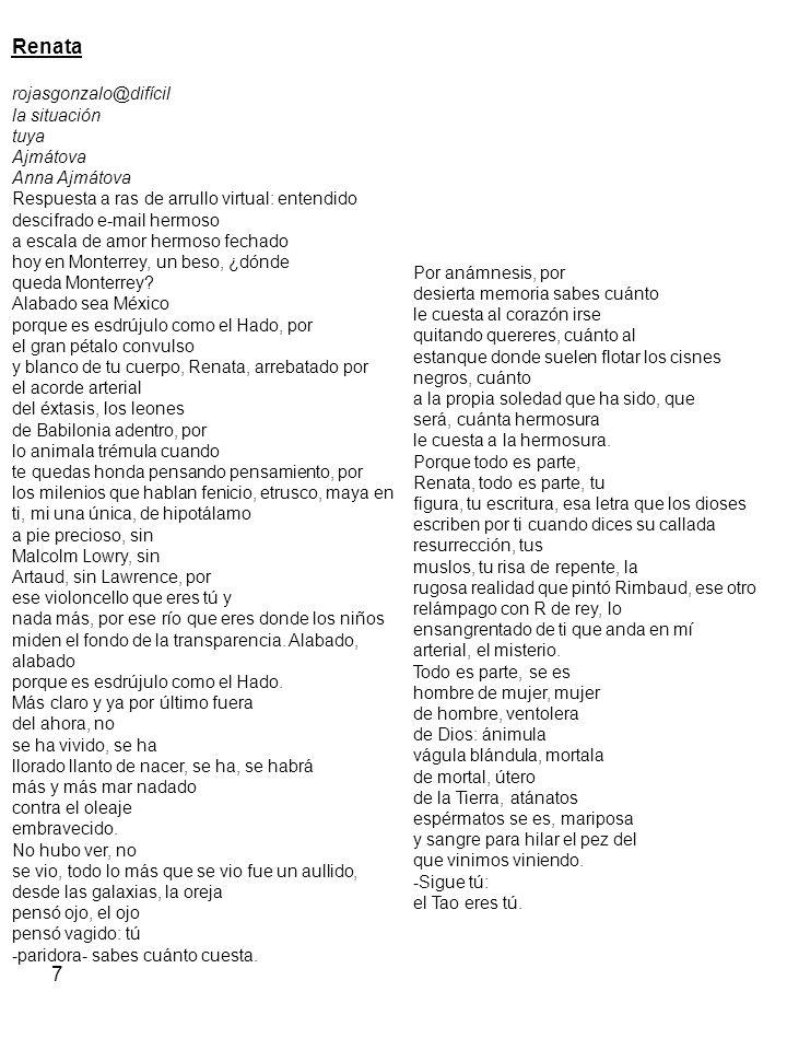 7 Renata rojasgonzalo@difícil la situación tuya Ajmátova Anna Ajmátova Respuesta a ras de arrullo virtual: entendido descifrado e-mail hermoso a escal