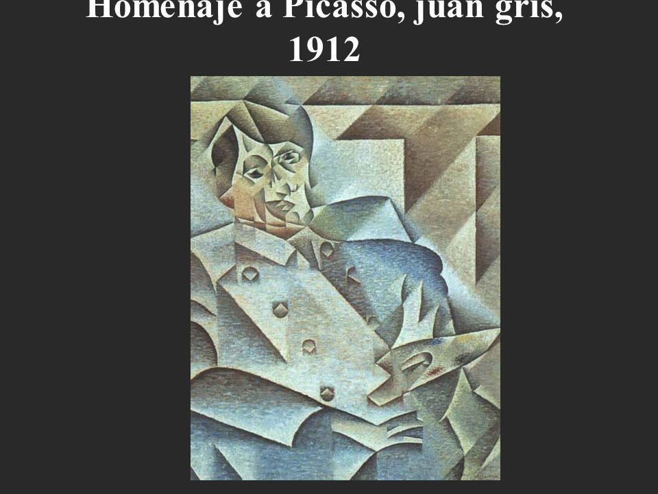 Homenaje a Picasso, juan gris, 1912
