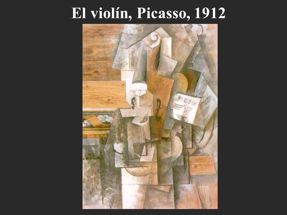 El violín, Picasso, 1912