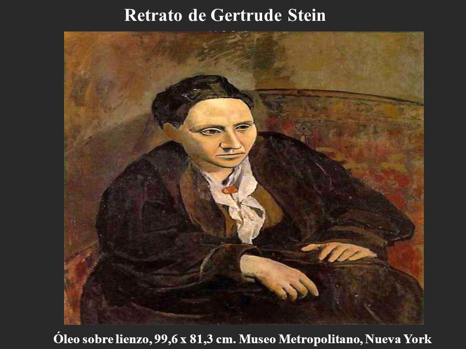 Retrato de Gertrude Stein (1906) Óleo sobre lienzo, 99,6 x 81,3 cm. Museo Metropolitano, Nueva York