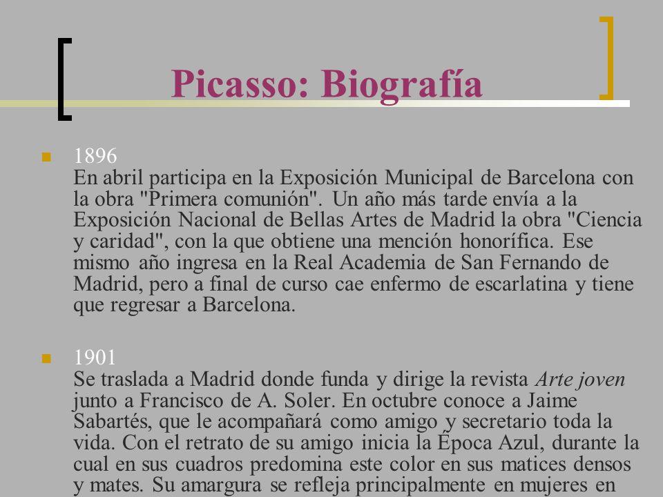 1896 En abril participa en la Exposición Municipal de Barcelona con la obra