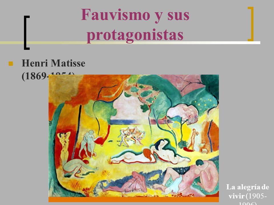Fauvismo y sus protagonistas Henri Matisse (1869-1954) La alegría de vivir (1905- 1906)