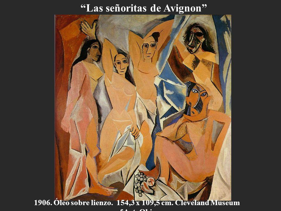 1906. Óleo sobre lienzo. 154,3 x 109,5 cm. Cleveland Museum of Art. Ohio. Las señoritas de Avignon