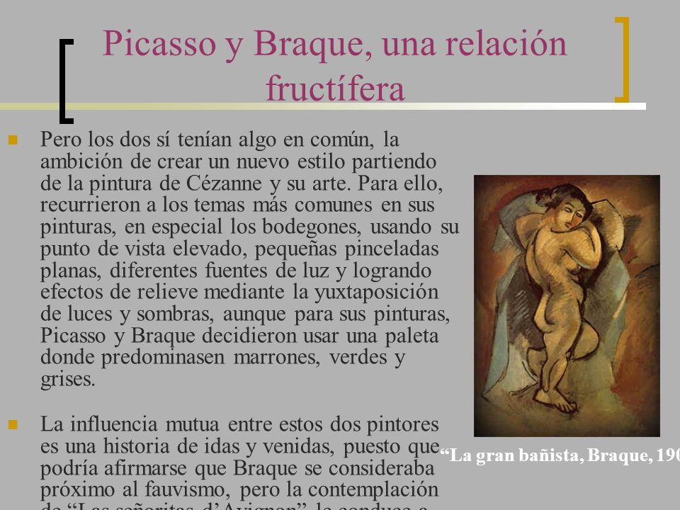 Picasso y Braque, una relación fructífera Pero los dos sí tenían algo en común, la ambición de crear un nuevo estilo partiendo de la pintura de Cézann