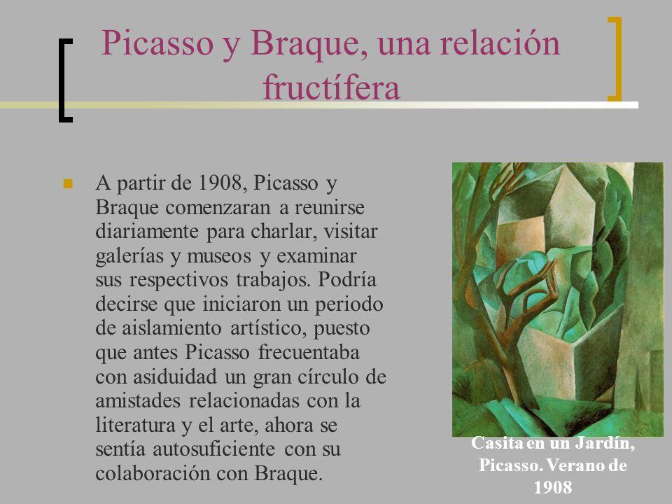 Picasso y Braque, una relación fructífera A partir de 1908, Picasso y Braque comenzaran a reunirse diariamente para charlar, visitar galerías y museos