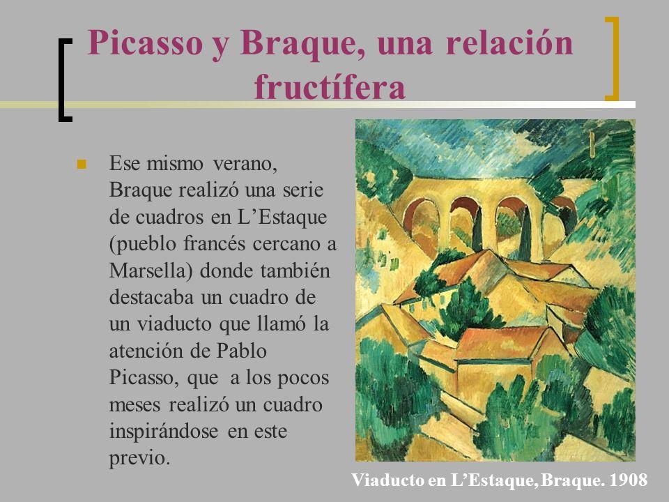 Ese mismo verano, Braque realizó una serie de cuadros en LEstaque (pueblo francés cercano a Marsella) donde también destacaba un cuadro de un viaducto
