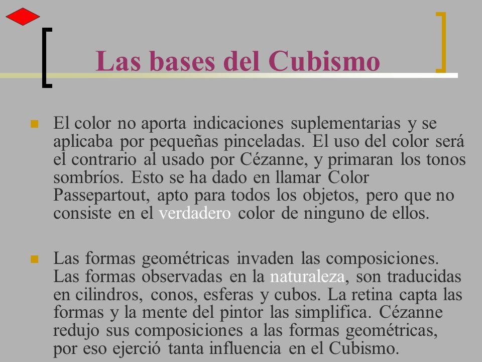 El color no aporta indicaciones suplementarias y se aplicaba por pequeñas pinceladas. El uso del color será el contrario al usado por Cézanne, y prima
