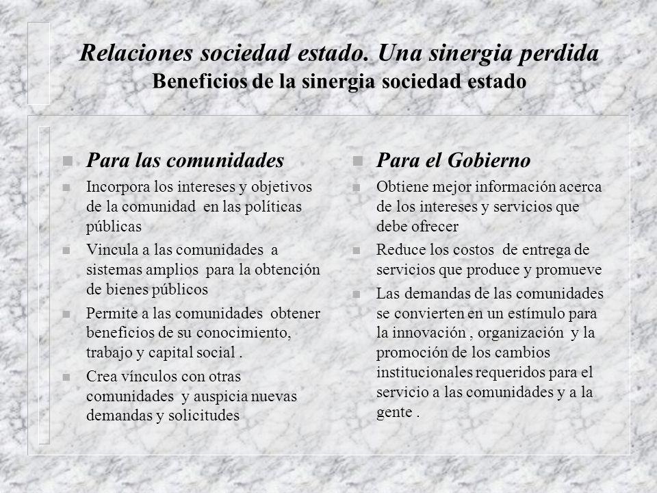 Relaciones sociedad estado.