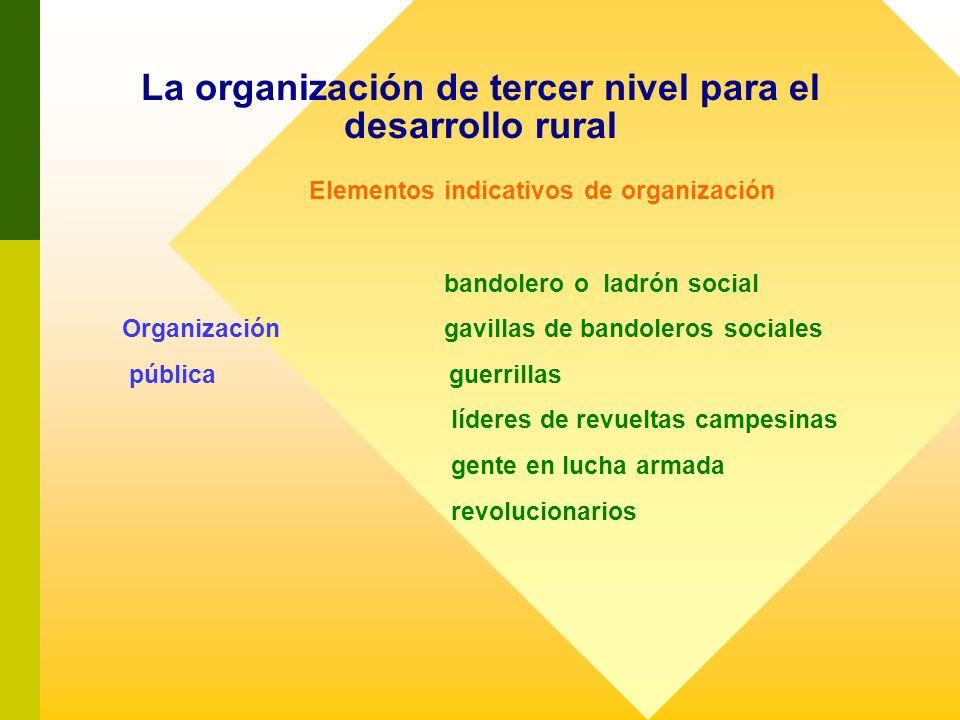 Elementos indicativos de organización bandolero o ladrón social Organización gavillas de bandoleros sociales pública guerrillas líderes de revueltas c
