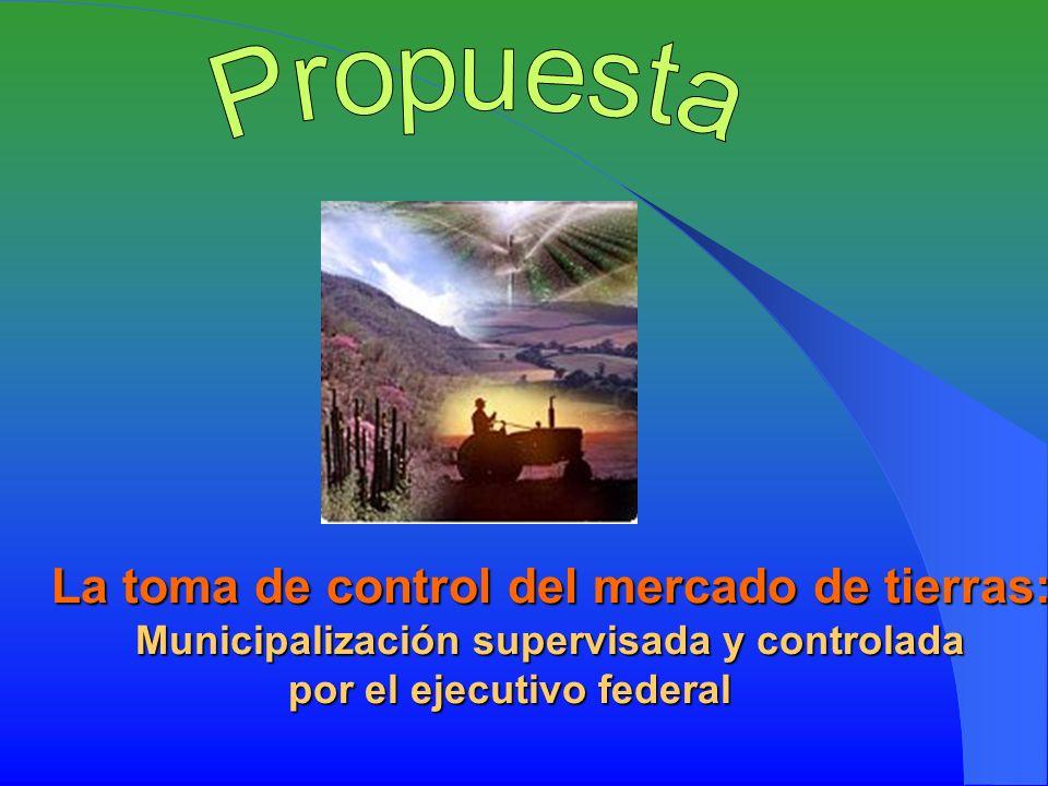 La toma de control del mercado de tierras: Municipalización supervisada y controlada por el ejecutivo federal