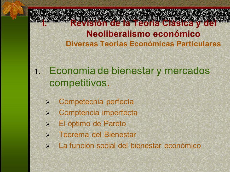 1.Economia de bienestar y mercados competitivos.