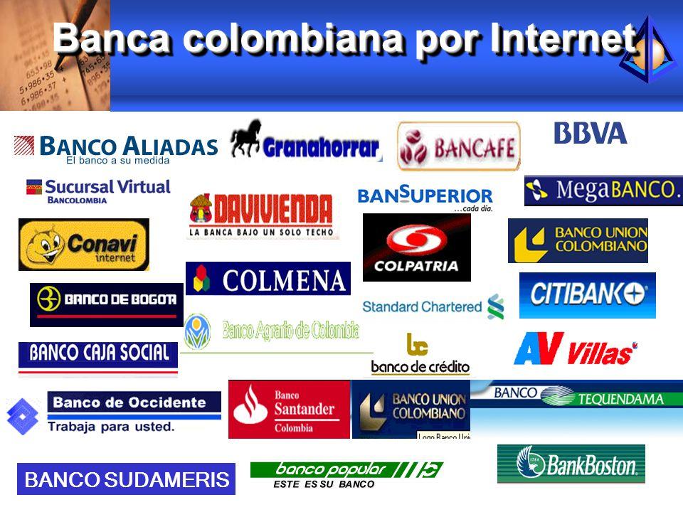 Banca colombiana por Internet BANCO SUDAMERIS