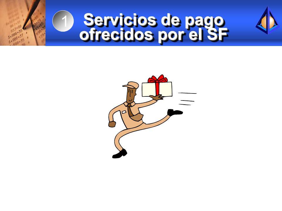 Servicios de pago ofrecidos por el SF 1