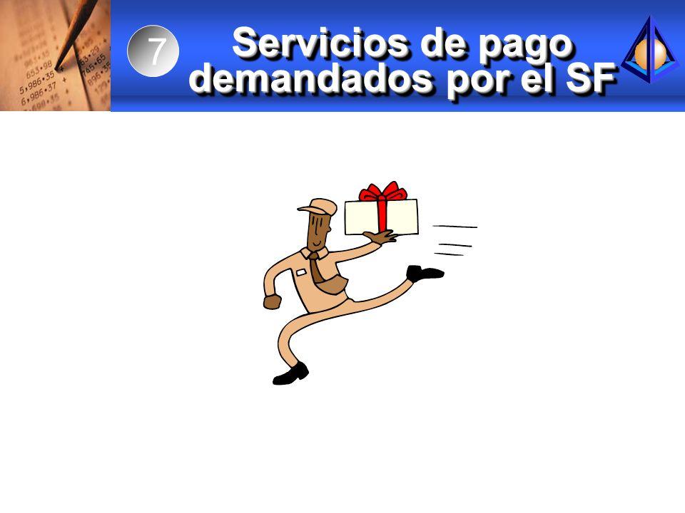 Servicios de pago demandados por el SF 7