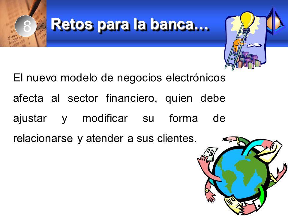 El nuevo modelo de negocios electrónicos afecta al sector financiero, quien debe ajustar y modificar su forma de relacionarse y atender a sus clientes