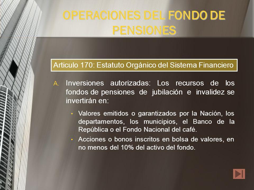 Con el fin de garantizar la seguridad, rentabilidad y liquidez de los recursos de los fondos, las AFP deben invertirlos en las condiciones y con sujec
