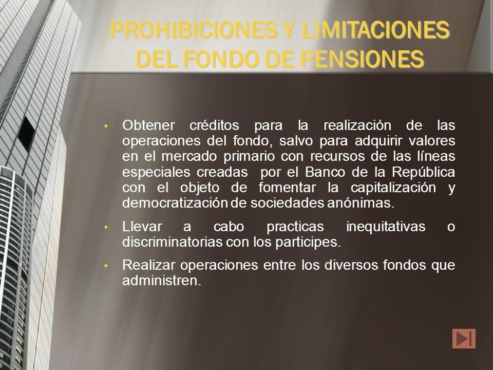 1.Operaciones Prohibidas Constituir gravámenes prendarios o hipotecarios sobre los bienes que integran el fondo. Invertir en valores emitidos por la s