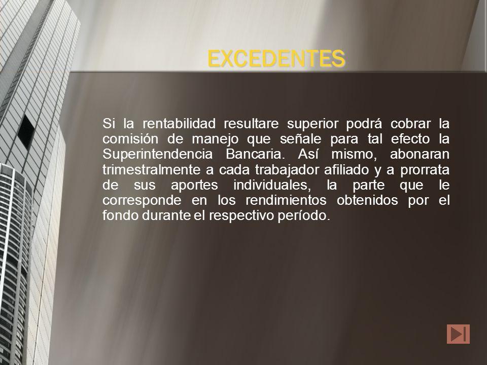 Con propio patrimonio o Con la reserva de estabilización de rendimientos que establezcan la Superintendencia Bancaria. RESPALDO