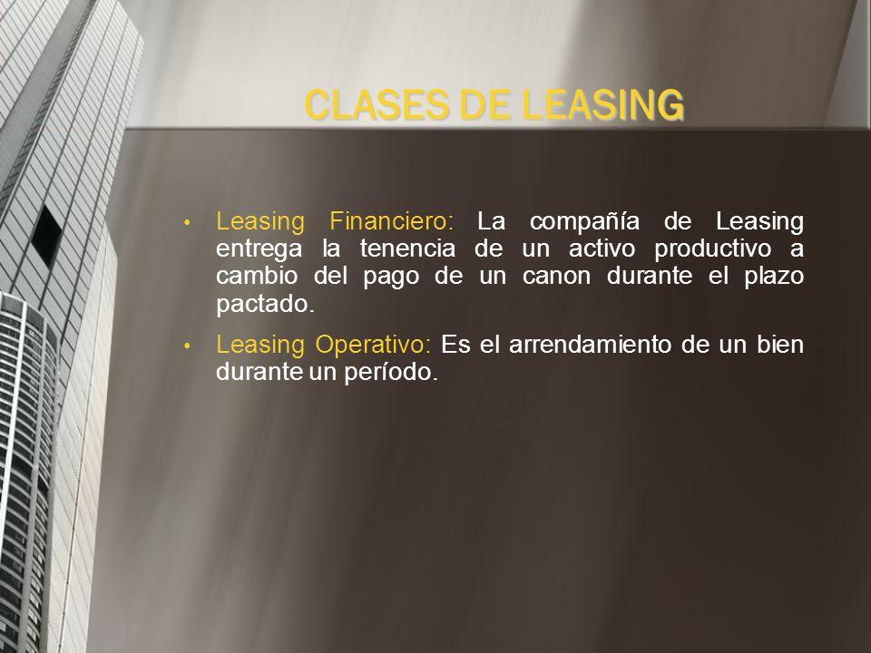 PARTES QUE INTERVIENEN EN UNA OPERACIÓN DE LEASING