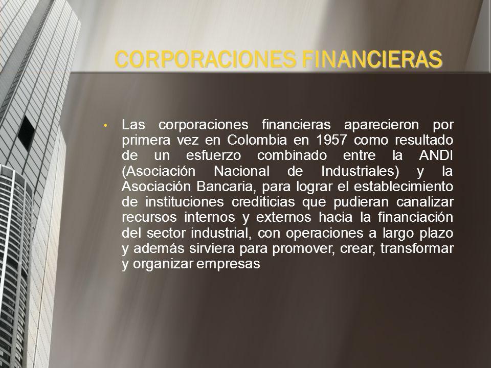 CORPORACIONES FINANCIERAS
