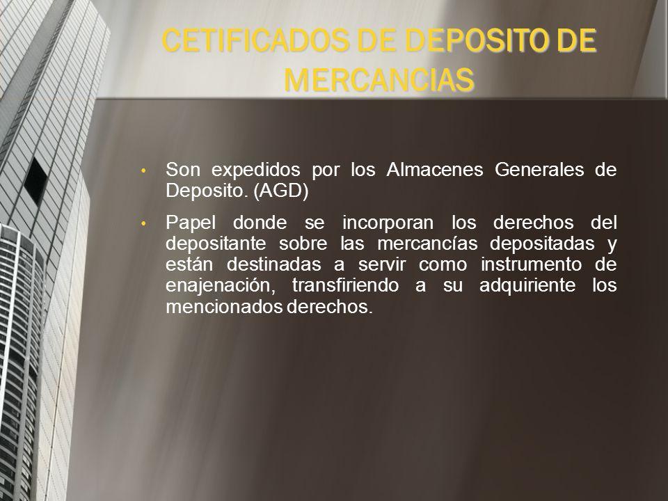 ALMACENES GENERALES DE DEPOSITO