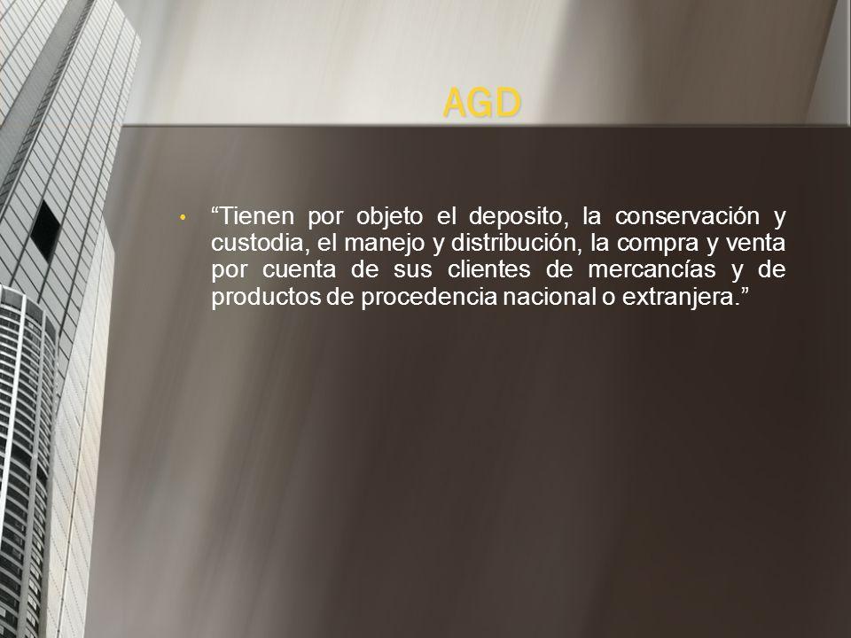 Son expedidos por los Almacenes Generales de Deposito. (AGD) Papel donde se incorporan los derechos del depositante sobre las mercancías depositadas y