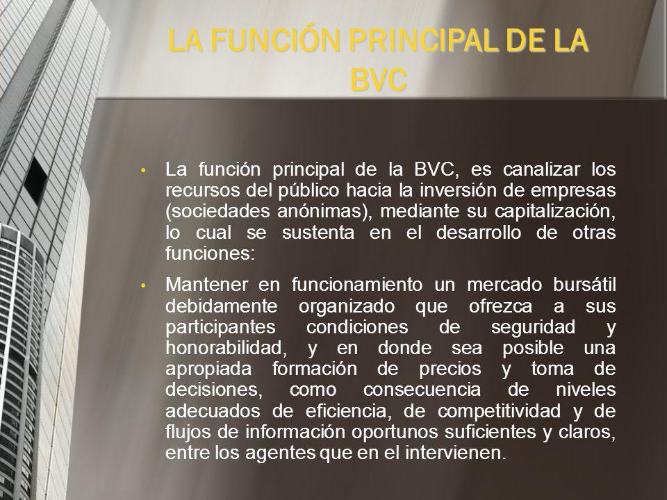 La Bolsa de Valores de Colombia S.A., BVC, está consolidada en una sola plataforma Administra los mercados accionario, cambiario, de derivados y de re