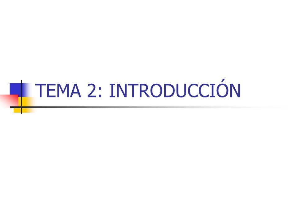 TEMA 2: INTRODUCCIÓN
