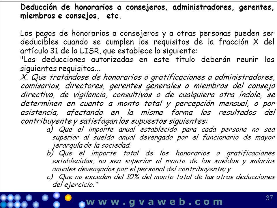 Deducción de honorarios a consejeros, administradores, gerentes, miembros e consejos, etc. Los pagos de honorarios a consejeros y a otras personas pue