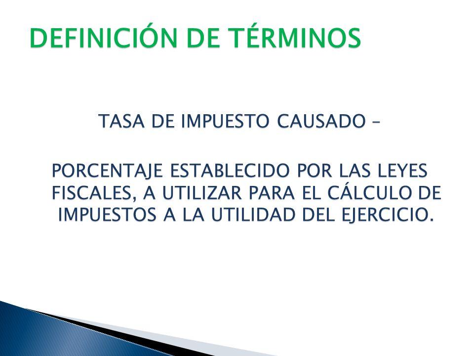 DEFINICIÓN DE TÉRMINOS CRÉDITO FISCAL – IMPORTES A FAVOR, QUE PUEDEN SER RECUPERADOS Y APLICADOS CONTRA LOS IMPUESTOS A LA UTILIDAD (DEBE EXISTIR INTE