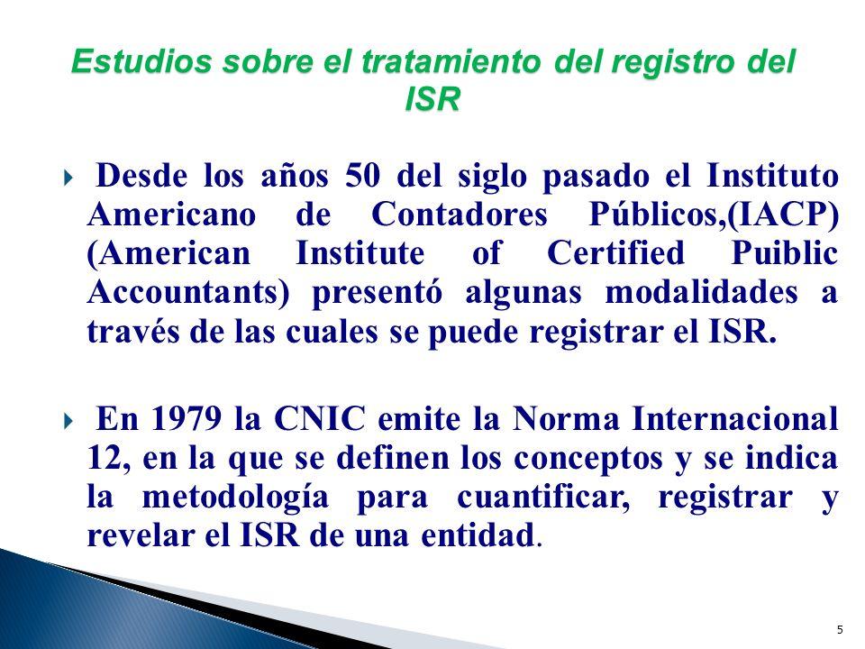 4 IMPUESTOS DIFERIDOS ANTECEDENTES APB-11(1967) FAS-96(1987) FAS-109(1989, EN VIGOR A PARTIR DE 1992) BOLETIN D-4 (1987) NIC-12(1996) NUEVO BOLETIN D-