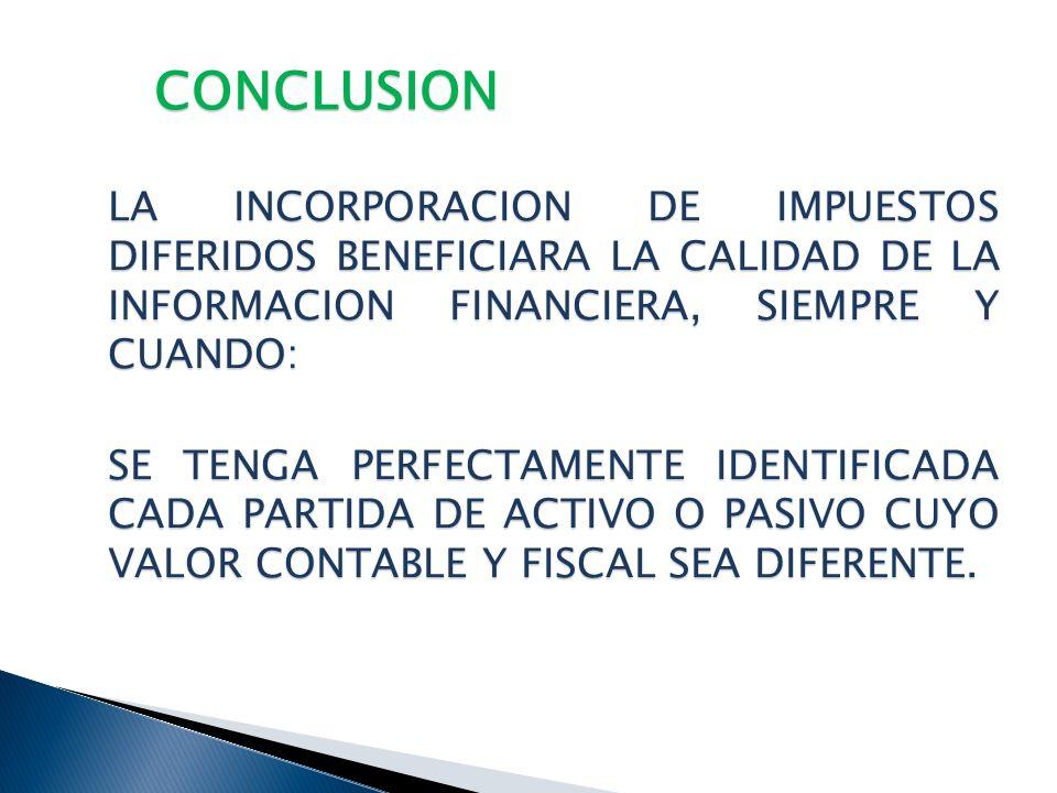 REPASO ALGUNAS PARTIDAS DEL BALANCE GENERAL IETU DIFERIDO IMPAC POR RECUPERAR IMPAC efectivamente pagado de los 10 ejercicios anteriores pendiente por