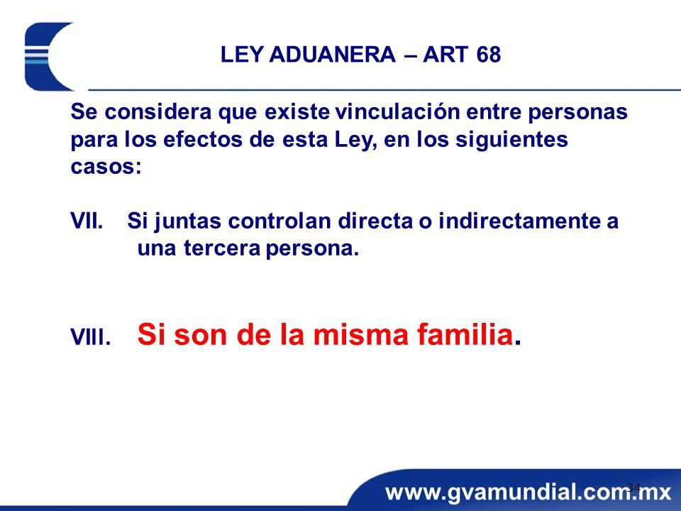 Se considera que existe vinculación entre personas para los efectos de esta Ley, en los siguientes casos: VII. Si juntas controlan directa o indirecta