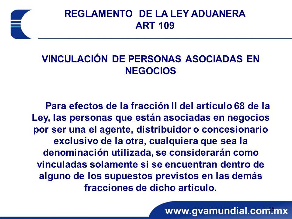 VINCULACIÓN DE PERSONAS ASOCIADAS EN NEGOCIOS Para efectos de la fracción ll del artículo 68 de la Ley, las personas que están asociadas en negocios p