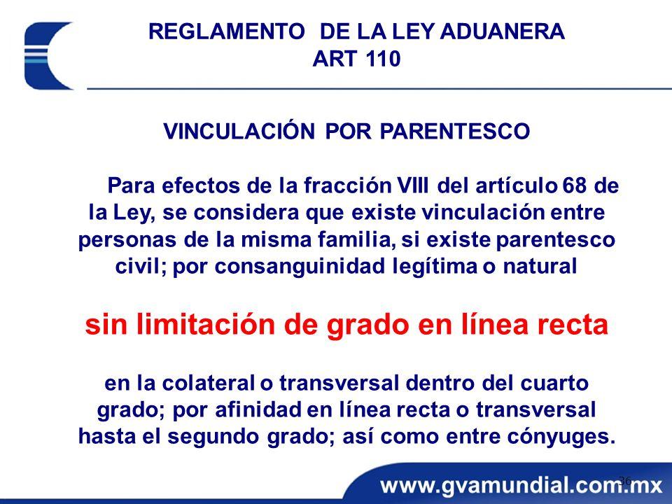 VINCULACIÓN POR PARENTESCO Para efectos de la fracción VIII del artículo 68 de la Ley, se considera que existe vinculación entre personas de la misma