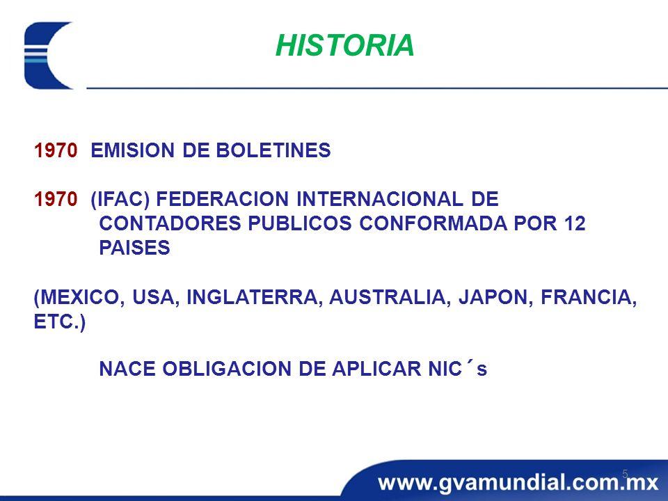 1970 EMISION DE BOLETINES 1970 (IFAC) FEDERACION INTERNACIONAL DE CONTADORES PUBLICOS CONFORMADA POR 12 PAISES (MEXICO, USA, INGLATERRA, AUSTRALIA, JA