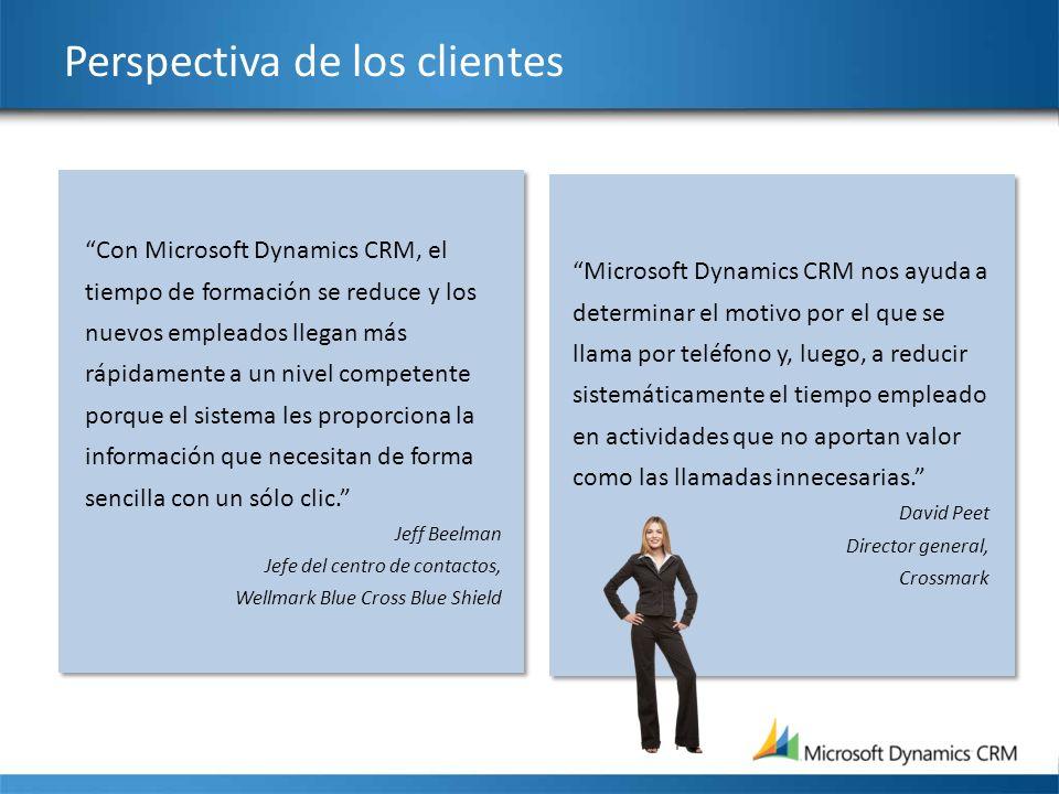 Perspectiva de los clientes Microsoft Dynamics CRM nos ayuda a determinar el motivo por el que se llama por teléfono y, luego, a reducir sistemáticame