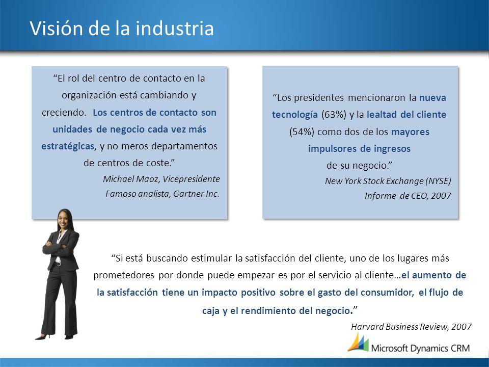 Visión de la industria El rol del centro de contacto en la organización está cambiando y creciendo. Los centros de contacto son unidades de negocio ca