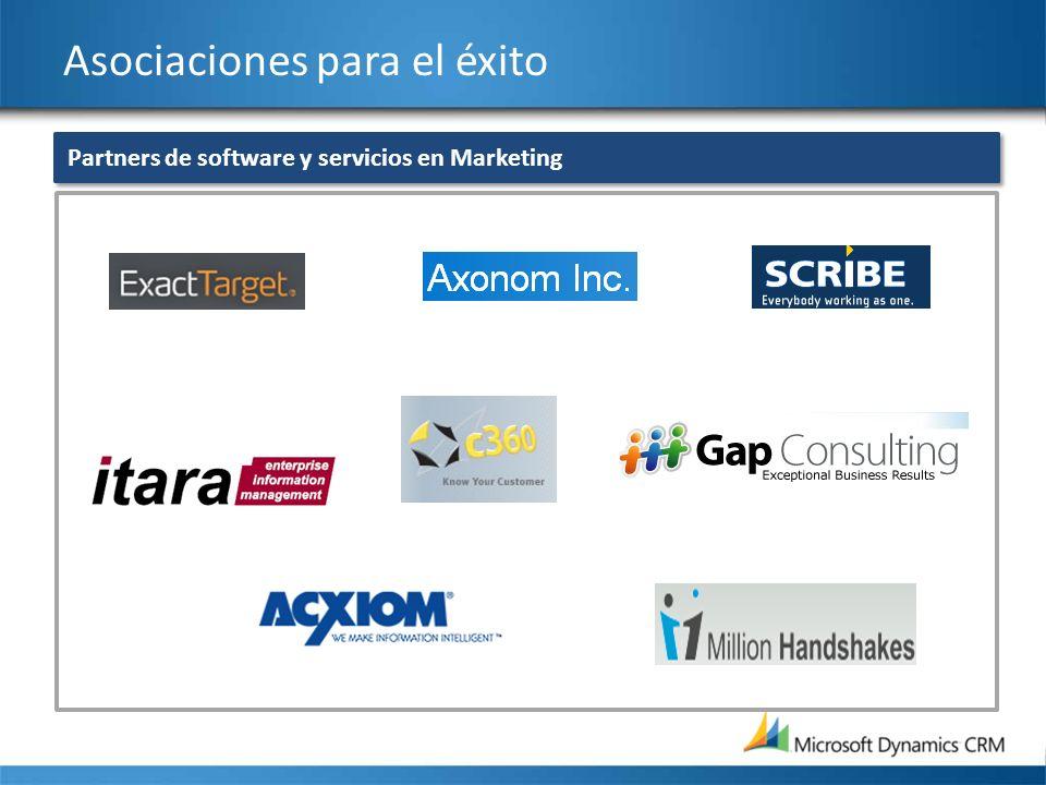 Asociaciones para el éxito Partners de software y servicios en Marketing
