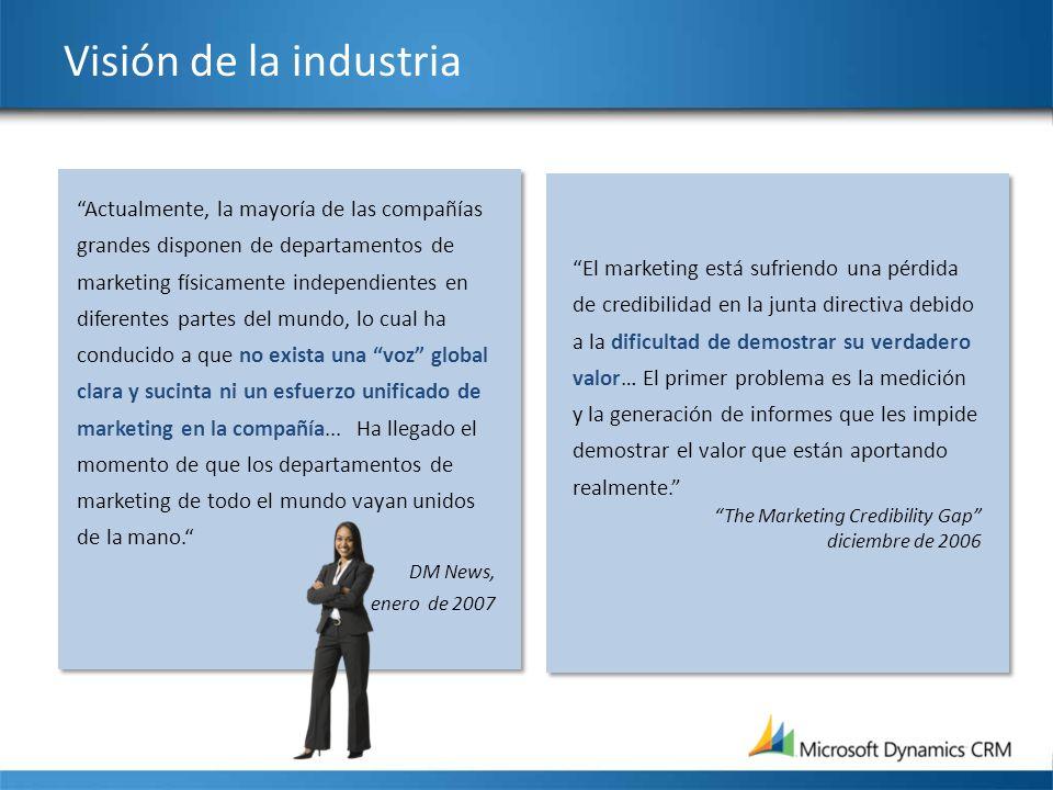 Visión de la industria El marketing está sufriendo una pérdida de credibilidad en la junta directiva debido a la dificultad de demostrar su verdadero