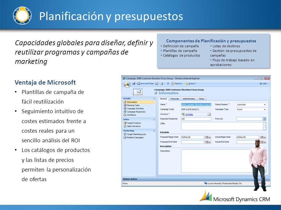 Capacidades globales para diseñar, definir y reutilizar programas y campañas de marketing Ventaja de Microsoft Plantillas de campaña de fácil reutiliz