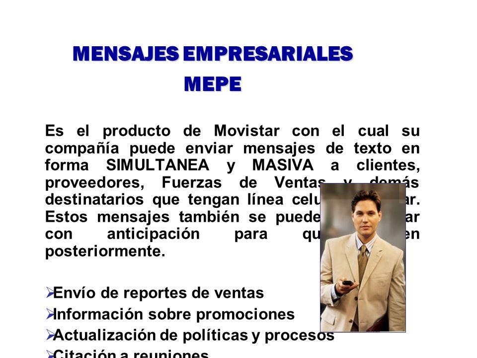 Es el producto de Movistar con el cual su compañía puede enviar mensajes de texto en forma SIMULTANEA y MASIVA a clientes, proveedores, Fuerzas de Ven