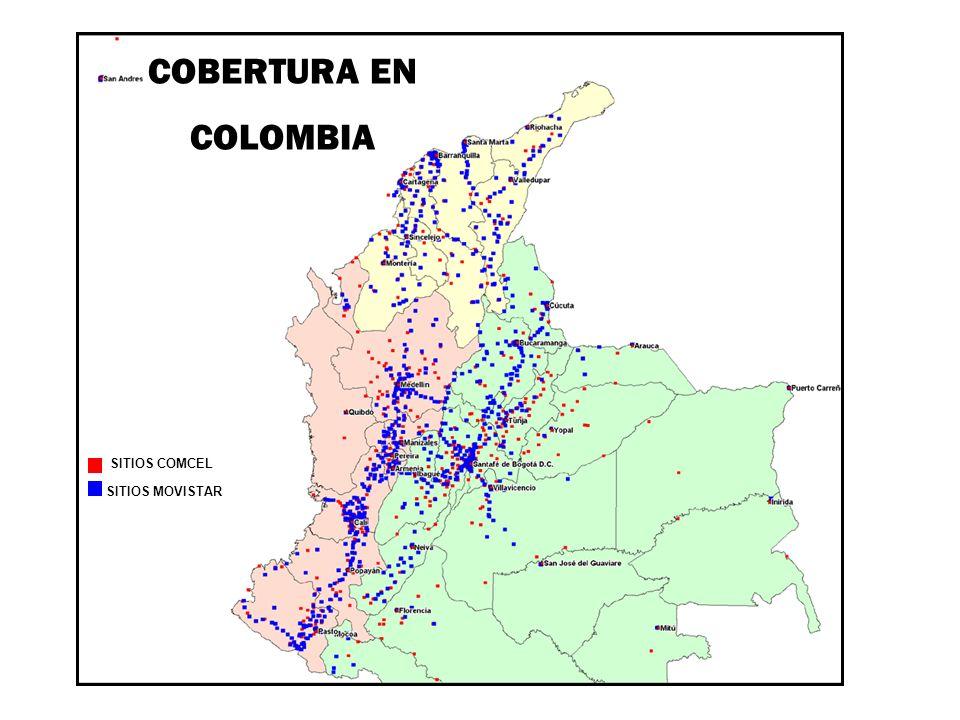 SITIOS MOVISTAR SITIOS COMCEL COBERTURA EN COLOMBIA