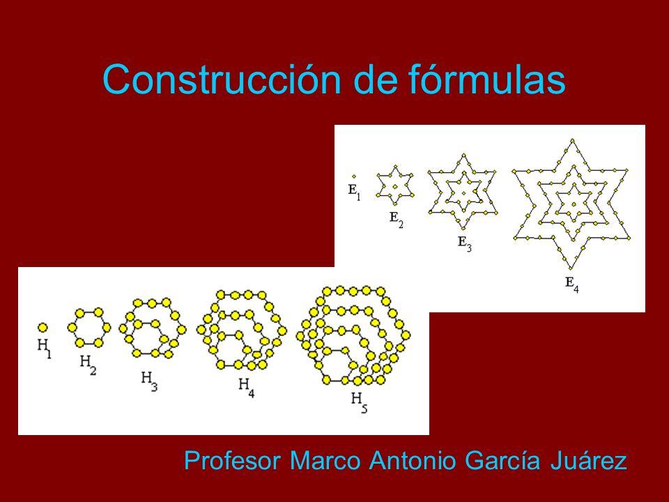 Construcción de fórmulas Profesor Marco Antonio García Juárez