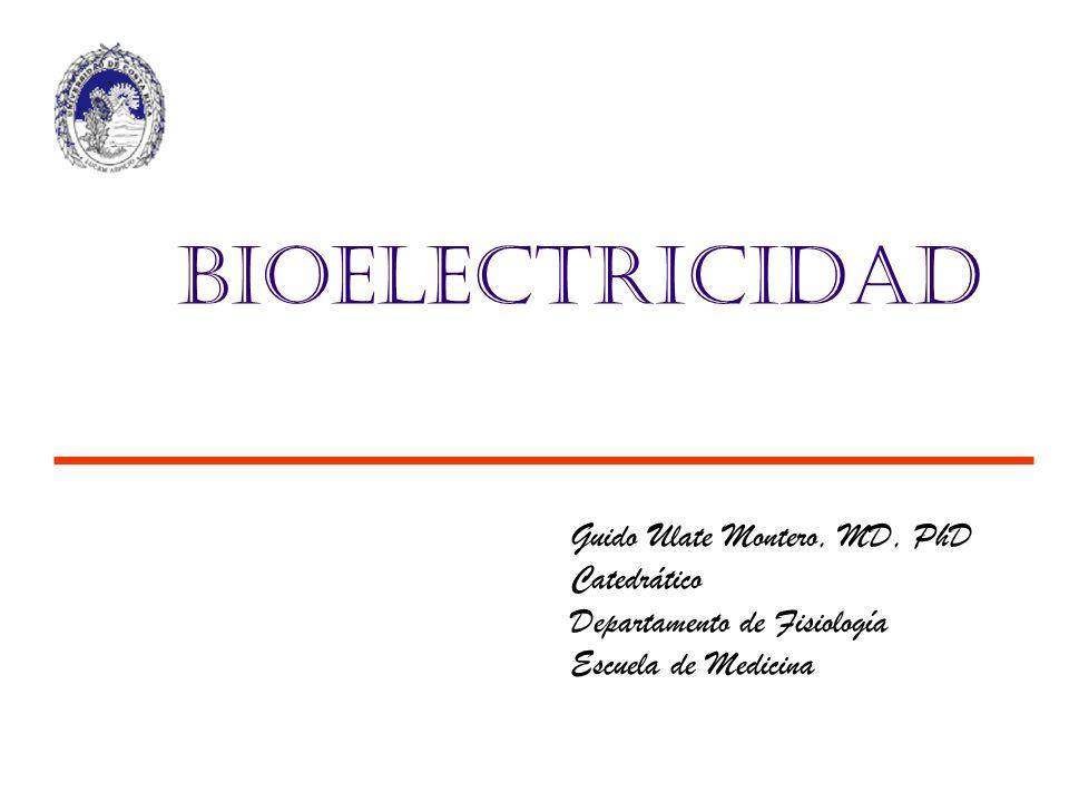 Guido Ulate Montero, MD, PhD Catedrático Departamento de Fisiología Escuela de Medicina Bioelectricidad
