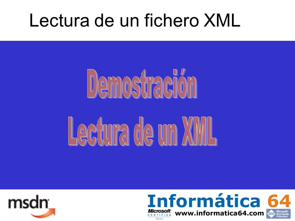 Lectura de un fichero XML